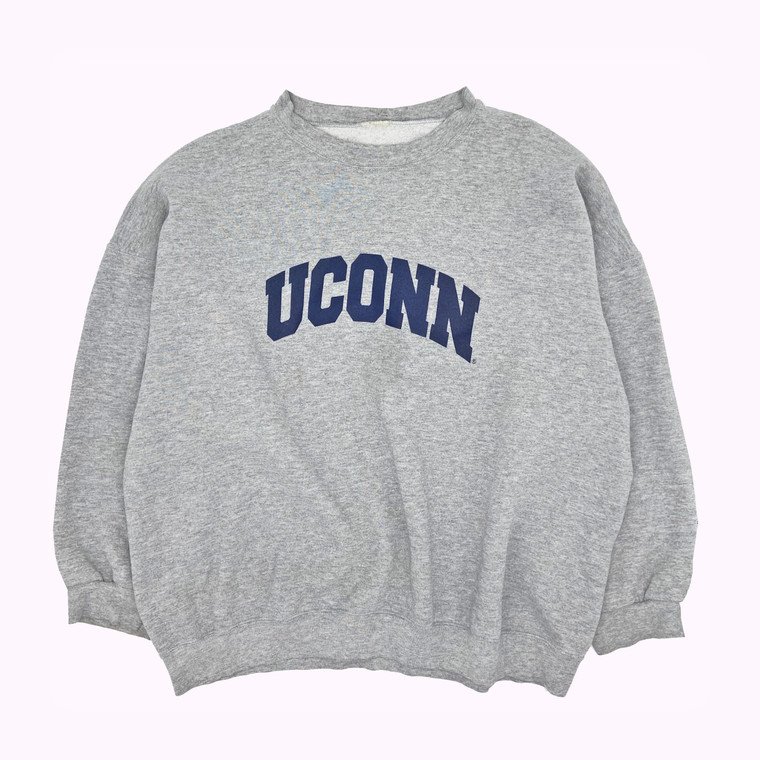 Vintage 90's Uconn Collegiate Heavyweight Crewneck Sweatshirt