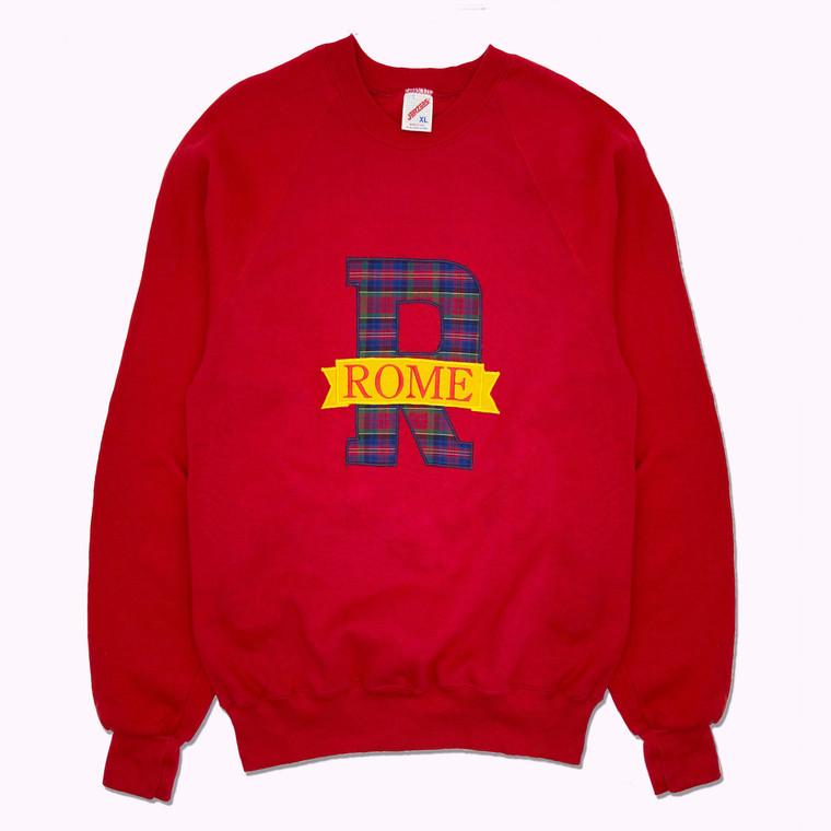 Vintage 90's Rome Italy Raglan Crewneck Sweatshirt