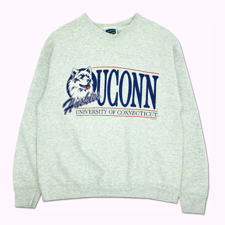 Vintage 90's University of Connecticut Huskies Crewneck Sweatshirt