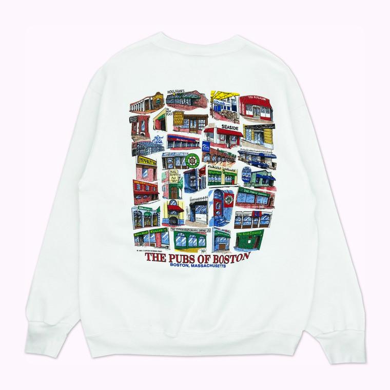 "Vintage 1993 ""The Pubs of Boston"" Crewneck Sweatshirt"
