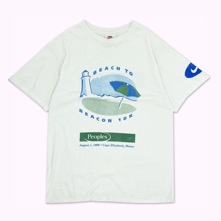 Vintage 1998 Nike Peoples Bank Beach Marathon T-Shirt