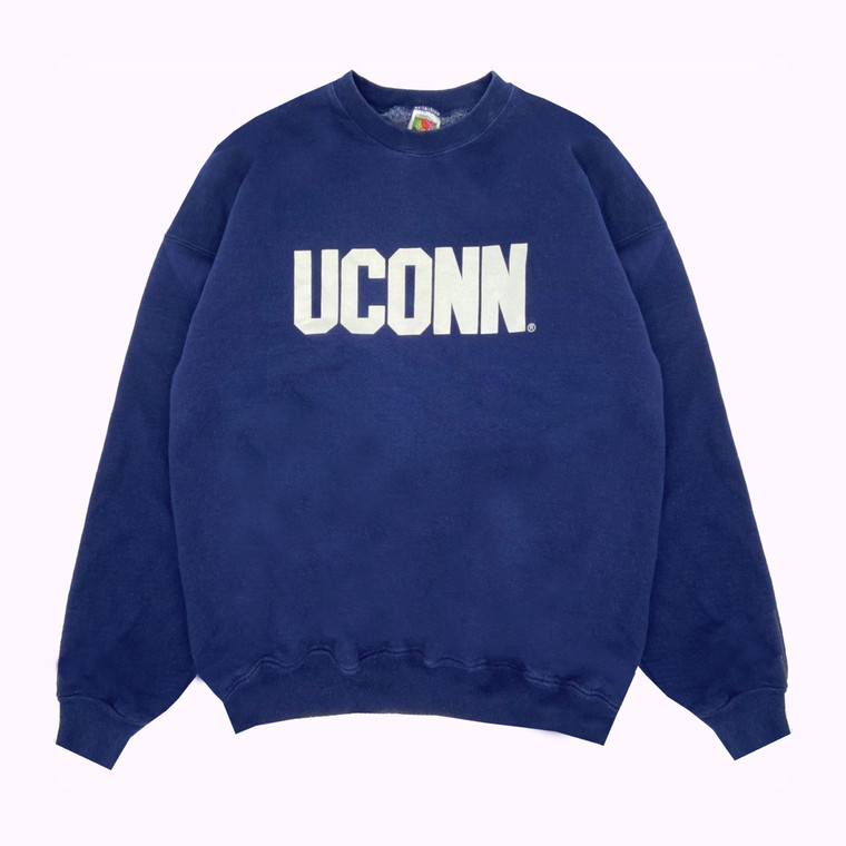 Vintage 90s UCONN Heavyweight Spell-Out Crewneck