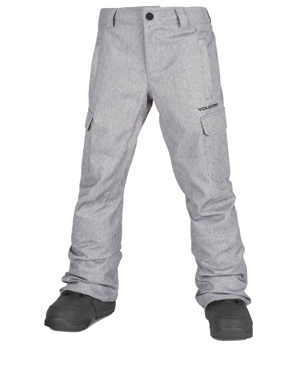 718b9a06fde Volcom Youth Cargo Insulated Pants in Heather Grey - Gear West Ski and Run