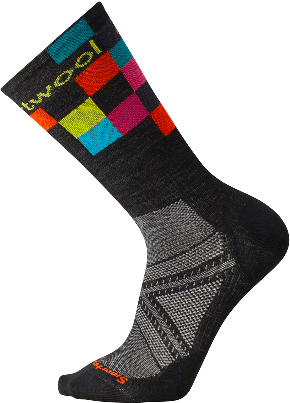 c3ad927f1 Smartwool PHd Cycle Ultra Light Logo Crew Socks - Gear West Ski and Run