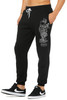 James Tex- Kappa and Tiger Unisex Sweatpants- Grey on Black
