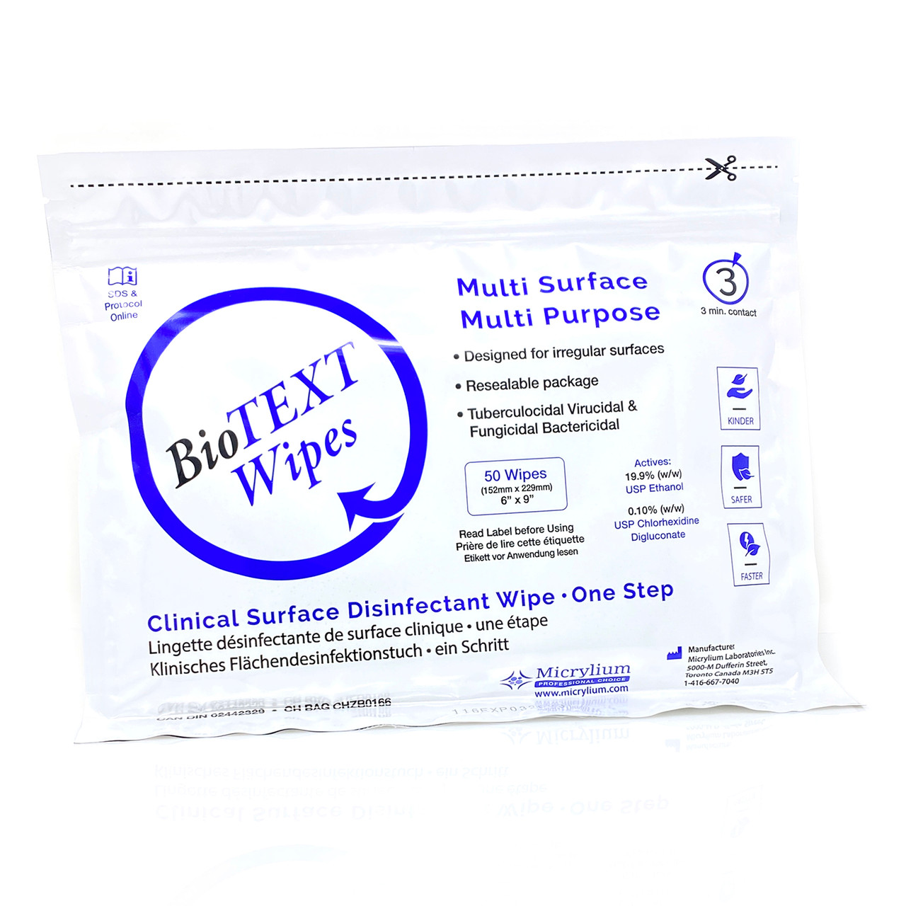 BioText Wipes 50/pack