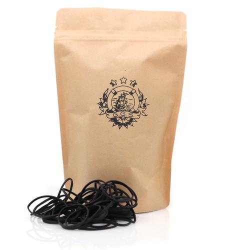 Thin Rubber Bands 500/Bag- Black