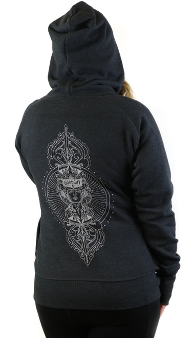 Craig Fenrick Ladies Funnel Neck Vintage Hoodie