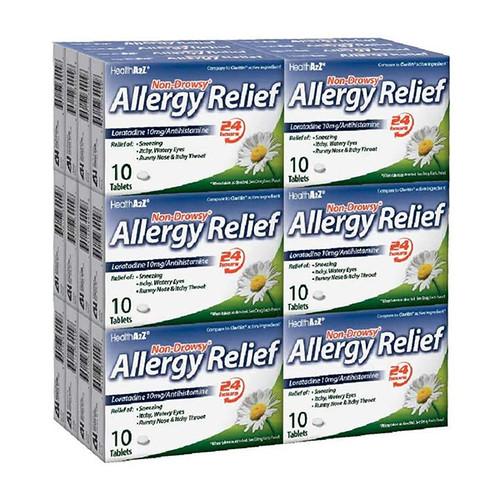 HealthA2Z Allergy Relief, Loratadine 10mg/Antihistamine, 24*10 Tablets (240 Tablets Total)