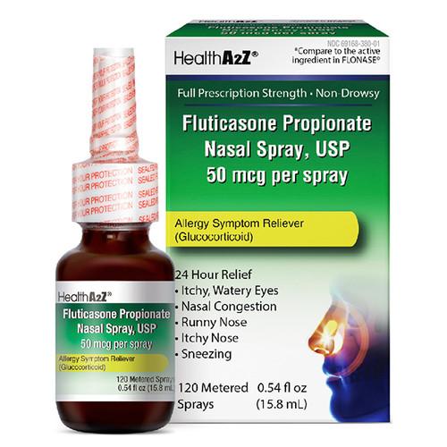 HealthA2Z Fluticasone Propionate Nasal Spray, 24 Hour Allergy Relief