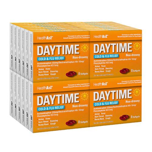 HealthA2Z Daytime Cold-Flu Relief, 24*8 Softgels (192 softgels Total)