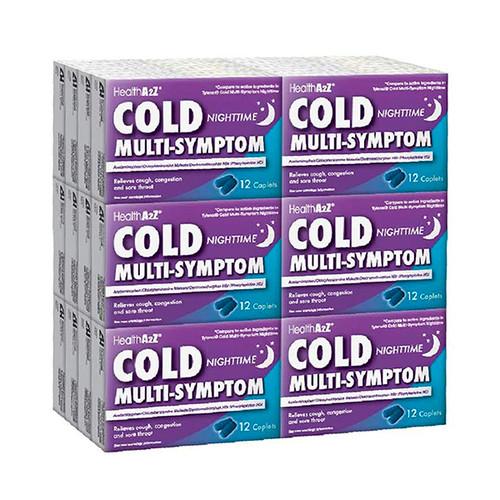 HealthA2Z Cold Multi-Symptom Nighttime, 24*12 Caplets (288 Caplets Total)