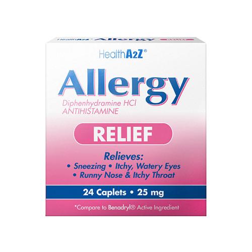 HealthA2Z Allergy Relief, Diphenhydramine 25mg ( 1 Pack, 3 Packs& 6 Packs)