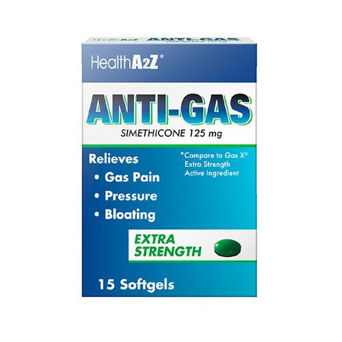 HealthA2Z Anti-Gas, 125mg ( 1 Pack, 3 Packs& 6 Packs)