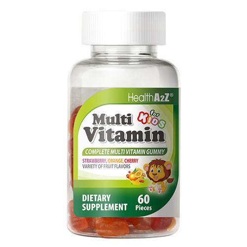 NutraA2Z Multi Vitamin for Kids - 120 count- Vitamins A, B6, B12, C, D, and E, Zinc, Folic Acid, Biotin, Iodine, Choline & Calcium