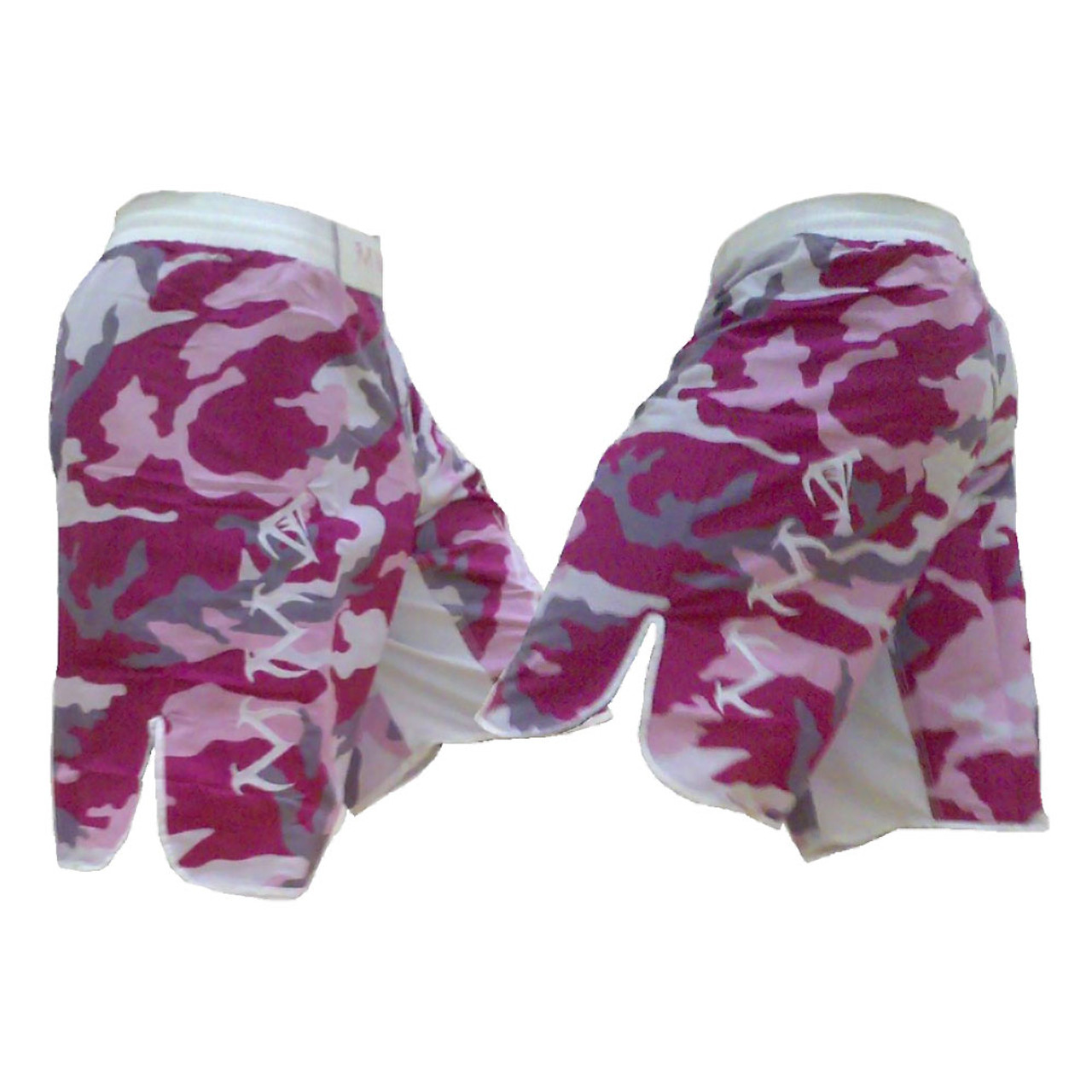 Pink Camo and Black MMA Fight Shorts