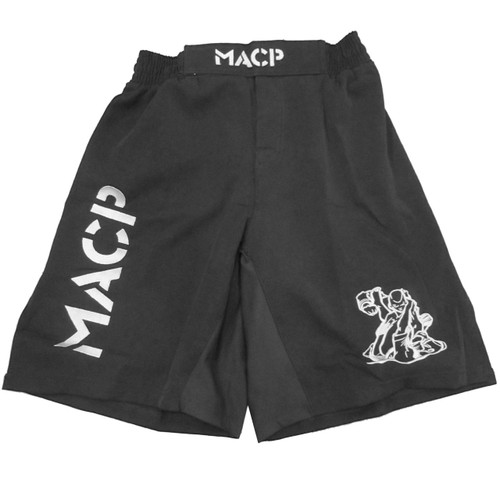 MACP Black & Silver Fight Shorts