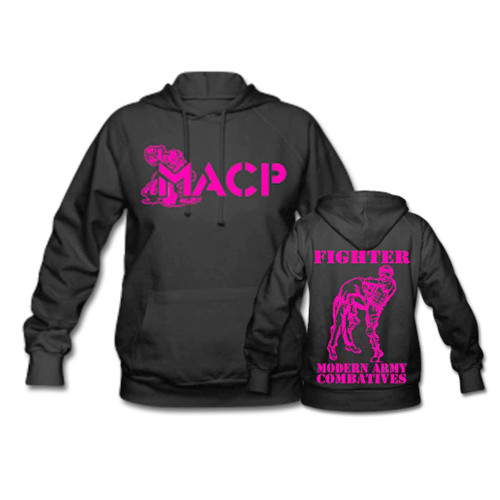 MACP Fighter Hoodie with Pink Print