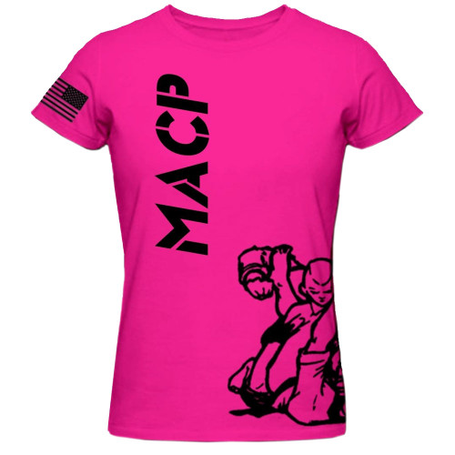 MACP Black on Hot Pink Fight Shirt