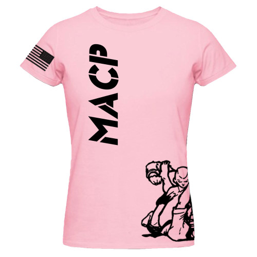 Kids MACP Black Print on Pink Fight Shirt