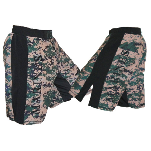 USMC MARPAT Fight Shorts