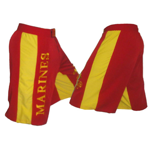Marine Corps Fight Shorts Red and Gold