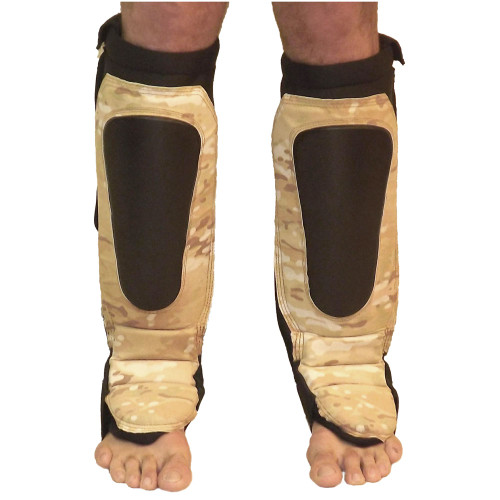 MultiCam Shin Guards Tan Camo