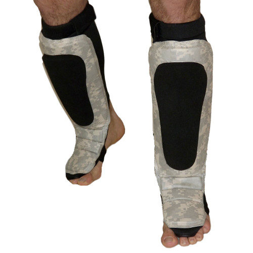 ACU Grappling Shin Instep Guard Gray Camo