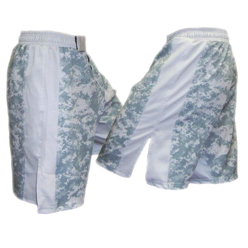 MACP ACU Fight Shorts Grey with White Stripe