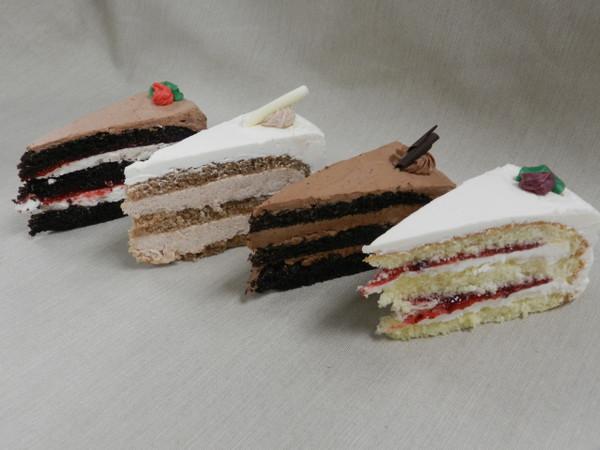 European Butter Cream Cake Slices