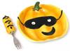Ceramic Pumpkin Plate with Fork Set (049-60014)