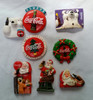 Vintage Christmas Coke Magnets lot of 8