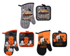 Whimsical Printed Halloween Oven Mitts and Pot Holders (187243)