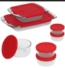 Pyrex Bake N Store Baking and Storage Dish Set, 14 pc