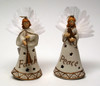 Roman Porcelain Fiber Optic Angel Ornament Set of 2