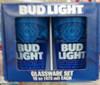 BLUE RIBBON EST 1844 or Bud Light 2PC PUB SET CLEAR GLASS - (812286039274 )