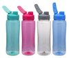 Colorful Plastic Water Bottles with Flip-Top Lids, 24 oz