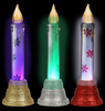Christmas LED Glitter Candles, 6.125x2 in. (318209)