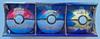 Pokemon TCG Poke Ball Tin 9 Booster Pack 3 Coin Set 3-pack (820650100734)