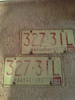 Collectible Vintage Auto Number Plates set of 2