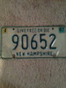 Collectible Vintage NH License Plate (90652)