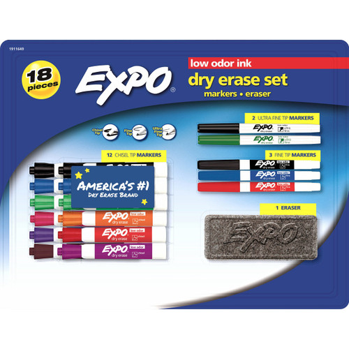 EXPO 18-Pc. Dry Erase Set ( 1911649)