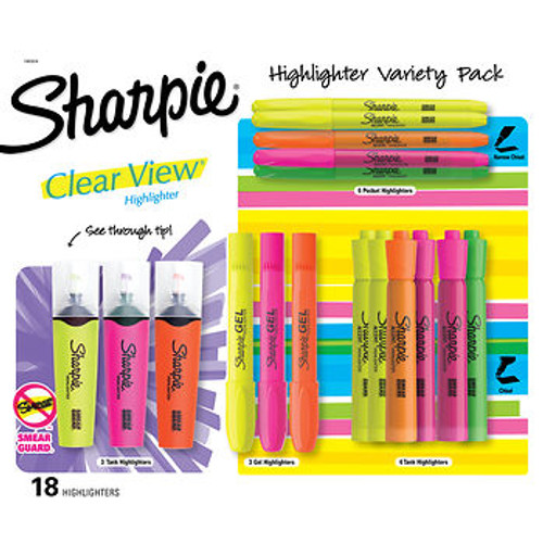 Sharpie Highlighter Variety Pack, 18 ct. (1965834 )