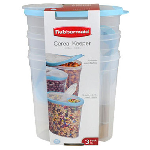 Rubbermaid Cereal Keeper, 3 pk. (Assorted Colors) (1930895)