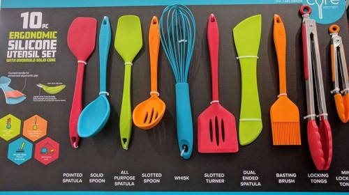 Core Kitchen 10 Piece Silicone Utensil Set (848974082321)
