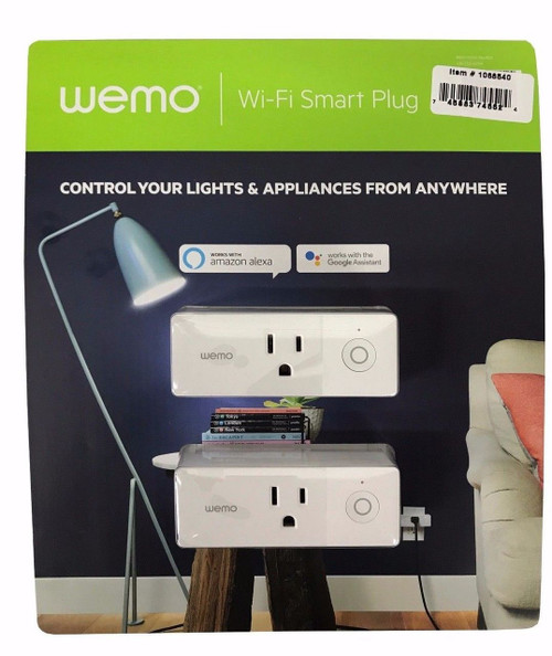 Wemo Wi-Fi Smart Plug 2 Pack (1068540 ) (