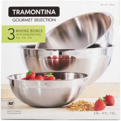 Tramontina Pro Line Mixing Bowls | 3ct (016017137912)