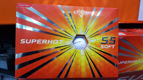 Callaway SuperHot 55 Golf Balls White Box of 24 Pack Super Hot Long Straight (884885975574)