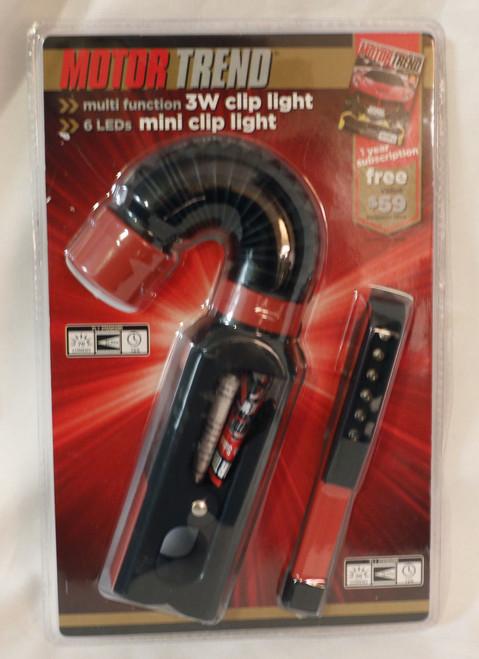 Motor Trend Multi Function 3w Clip Light 6led's Mini Clip Light