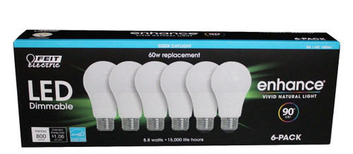 FEIT 8.8 Watt DAYLIGHT Dimmable Replacement 6 Pack (1200261)